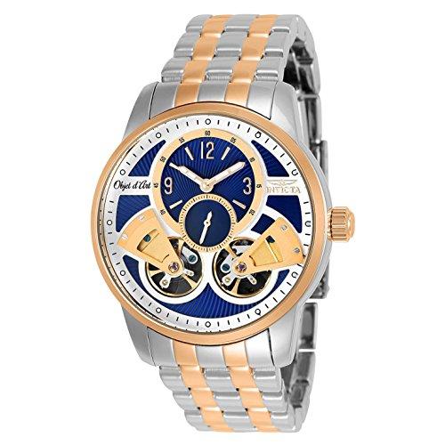 インヴィクタ インビクタ 腕時計 メンズ 【送料無料】Invicta Men's 25578 Objet D Art Automatic Multifunction Blue, Silver Dial Watchインヴィクタ インビクタ 腕時計 メンズ