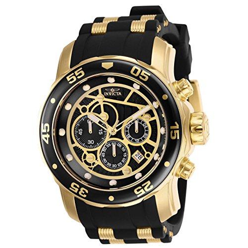 インヴィクタ インビクタ プロダイバー 腕時計 メンズ 【送料無料】25710 - INVICTA Pro Diver Men 48mm Stainless Steel Gold Black dial VD53 Quartzインヴィクタ インビクタ プロダイバー 腕時計 メンズ
