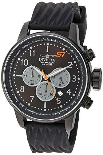 インヴィクタ インビクタ 腕時計 メンズ 【送料無料】Invicta Men's S1 Rally Stainless Steel Quartz Watch with Silicone Strap, Black, 22 (Model: 23814)インヴィクタ インビクタ 腕時計 メンズ
