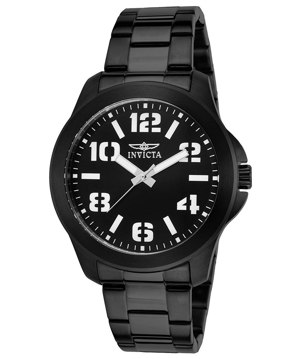 インヴィクタ インビクタ 腕時計 メンズ 【送料無料】Invicta 21399 Men's Specialty Black IP Steel and Dial Black IP Ss Watchインヴィクタ インビクタ 腕時計 メンズ