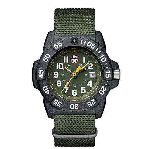ルミノックス アメリカ海軍SEAL部隊 ミリタリーウォッチ 腕時計 メンズ 3517 Luminox Men's SEA Stainless Steel Swiss-Quartz Watch with Nylon Strap, Green, 24 (Model: 3517)ルミノックス アメリカ海軍SEAL部隊 ミリタリーウォッチ 腕時計 メンズ 3517