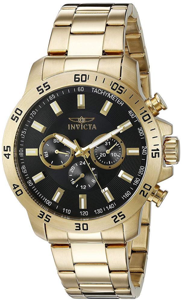 インヴィクタ インビクタ 腕時計 メンズ Invicta Men's 21506 Specialty 18k Gold Ion-Plated Stainless Steel Watchインヴィクタ インビクタ 腕時計 メンズ