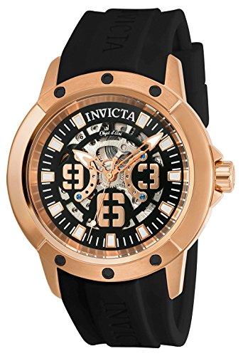 インヴィクタ インビクタ 腕時計 メンズ 【送料無料】Invicta Men's Objet D Art Stainless Steel Automatic-self-Wind Watch with Silicone Strap, Black, 23 (Model: 22631)インヴィクタ インビクタ 腕時計 メンズ