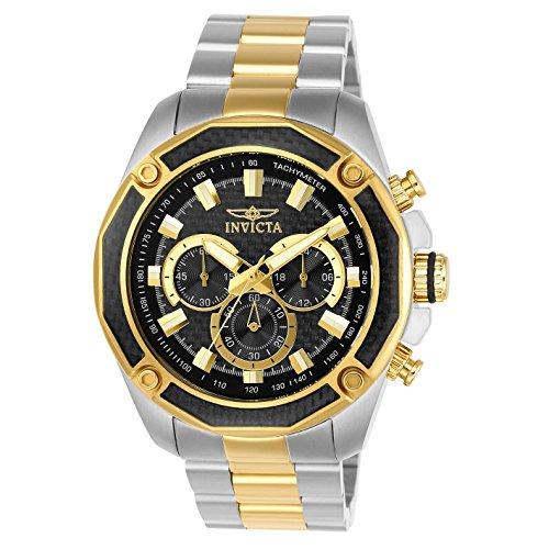 インヴィクタ インビクタ 腕時計 メンズ 【送料無料】Invicta Men's Aviator Gold-Tone Steel Bracelet & Case Quartz Black Dial Analog Watch 22806インヴィクタ インビクタ 腕時計 メンズ