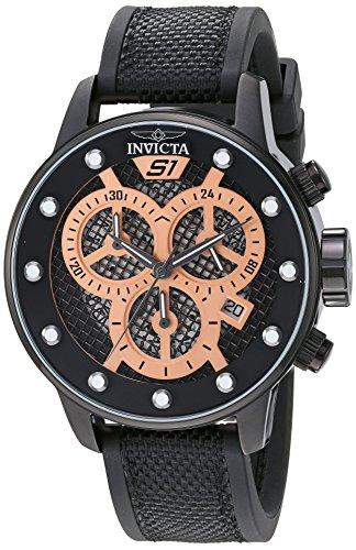 インヴィクタ インビクタ 腕時計 メンズ 【送料無料】Invicta Men's 'S1 Rally' Quartz Stainless Steel and Polyurethane Watch, Color:Black (Model: 19625)インヴィクタ インビクタ 腕時計 メンズ