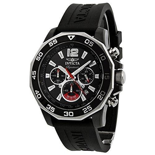 インヴィクタ インビクタ 腕時計 メンズ 【送料無料】Invicta Signature II Chronograph Nautical Black Dial Black Rubber Mens Watch 7433インヴィクタ インビクタ 腕時計 メンズ