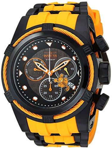 インヴィクタ インビクタ 腕時計 メンズ 【送料無料】Invicta Men's Character Collection Stainless Steel Quartz Watch with Silicone Strap, Black, 36.8 (Model: 25002)インヴィクタ インビクタ 腕時計 メンズ
