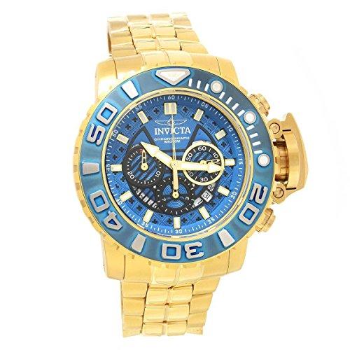 インヴィクタ インビクタ 腕時計 メンズ 【送料無料】Invicta 22134 Men's Sea Hunter Chrono Yellow Gold Steel Dive Watchインヴィクタ インビクタ 腕時計 メンズ