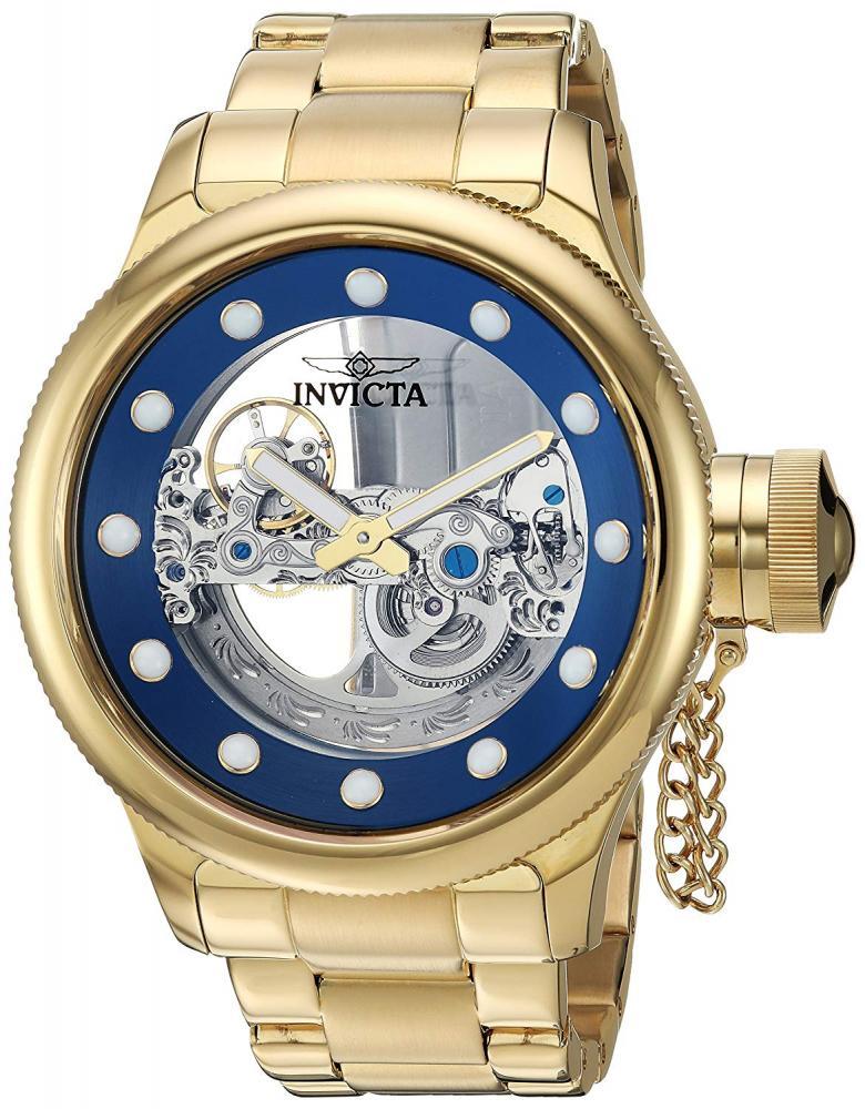 インヴィクタ インビクタ 腕時計 メンズ 【送料無料】Invicta Men's Russian Diver Automatic-self-Wind Watch with Stainless Steel Strap, Gold, 26 (Model: 26270)インヴィクタ インビクタ 腕時計 メンズ