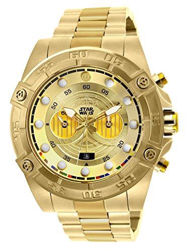 インヴィクタ インビクタ 腕時計 メンズ 【送料無料】'Invicta Men's 'Star Wars' Quartz Stainless Steel Casual Watch, Color: Gold (Model: 26525)インヴィクタ インビクタ 腕時計 メンズ