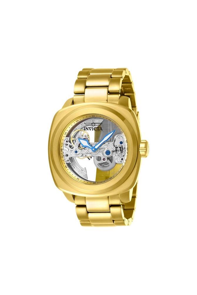 インヴィクタ インビクタ 腕時計 メンズ 【送料無料】Invicta Men's Aviator Automatic-self-Wind Stainless-Steel Strap, Gold, 24 Casual Watch (Model: 25235)インヴィクタ インビクタ 腕時計 メンズ