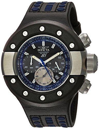 インヴィクタ インビクタ 腕時計 メンズ Invicta Men's S1 Rally Stainless Steel Japanese-Quartz Watch with Leather Calfskin Strap, Two Tone, 27 (Model: 19179)インヴィクタ インビクタ 腕時計 メンズ