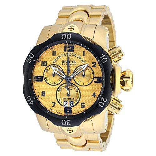 インヴィクタ インビクタ ベノム 腕時計 メンズ 【送料無料】Invicta 90137 Mens Venom Gold Plated Chronograph Watchインヴィクタ インビクタ ベノム 腕時計 メンズ