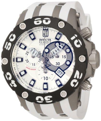 インヴィクタ インビクタ 腕時計 メンズ 【送料無料】Jason Taylor for Invicta Collection 12947 Chronograph Silver Dial White Polyurethane Watchインヴィクタ インビクタ 腕時計 メンズ