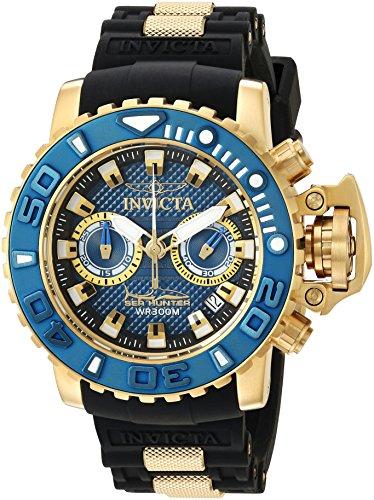 インヴィクタ インビクタ 腕時計 メンズ 【送料無料】Invicta Men's Sea Hunter Stainless Steel Swiss-Quartz Watch with Silicone Strap, Black, 25.9 (Model: 20476)インヴィクタ インビクタ 腕時計 メンズ