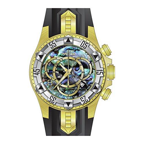 インヴィクタ インビクタ 腕時計 メンズ 【送料無料】Invicta 25017 Men's Excursion Chronograph Blue Abalone Dial Black Silicone Strap Dive Watchインヴィクタ インビクタ 腕時計 メンズ