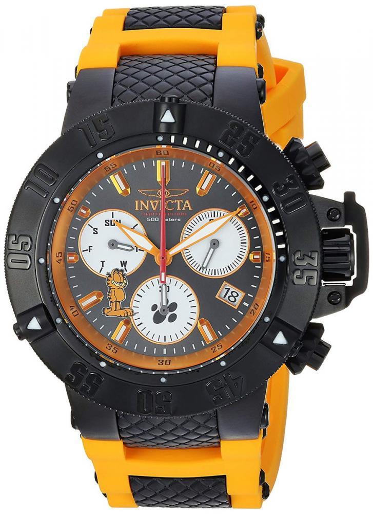 インヴィクタ インビクタ 腕時計 メンズ Invicta Men's Character Collection Stainless Steel Quartz Watch with Silicone Strap, Orange, 26 (Model: 24999)インヴィクタ インビクタ 腕時計 メンズ