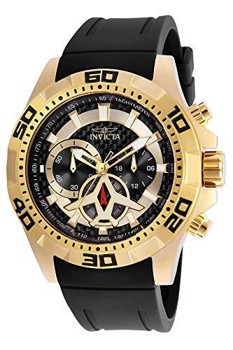 インヴィクタ インビクタ 腕時計 メンズ Invicta Men's Aviator Stainless Steel Quartz Watch with Polyurethane Strap, Black, 24 (Model: 21738)インヴィクタ インビクタ 腕時計 メンズ