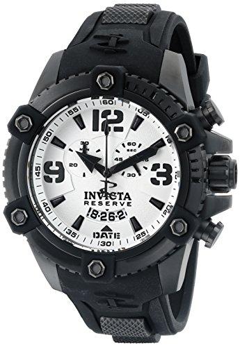 インヴィクタ インビクタ 腕時計 メンズ 【送料無料】Invicta Men's 11178 Arsenal Chronograph White Dial Black Polyurethane Watchインヴィクタ インビクタ 腕時計 メンズ
