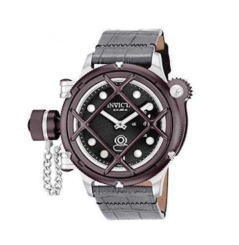腕時計 インヴィクタ インビクタ メンズ 【送料無料】Invicta Men's 16235 Russian Diver Nautilus Analog Display Mechanical Hand Wind Black Dial Grey Watch腕時計 インヴィクタ インビクタ メンズ