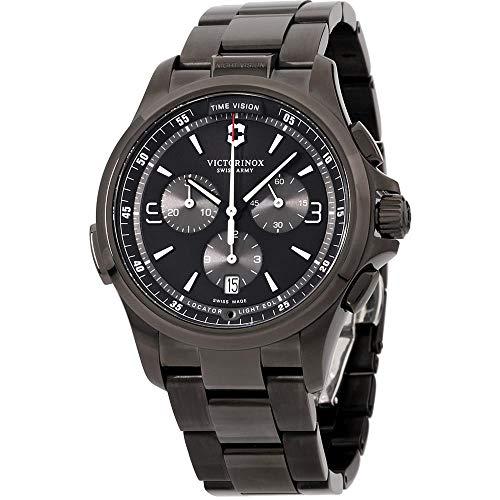 腕時計 ビクトリノックス スイス メンズ 【送料無料】Victorinox Men's Night Vision Titanium Swiss-Quartz Watch with Stainless-Steel Strap, Black, 21 (Model: 241730)腕時計 ビクトリノックス スイス メンズ