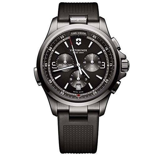 ビクトリノックス スイス 腕時計 メンズ Victorinox Night Vision Quartz Movement Black Dial Men's Watch 241731ビクトリノックス スイス 腕時計 メンズ