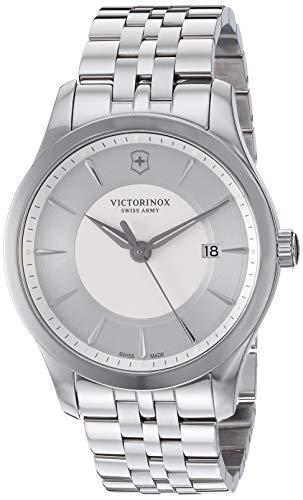 ビクトリノックス スイス 腕時計 メンズ 【送料無料】Victorinox Alliance Stainless Steel Swiss-Quartz Watch with Leather Strap, Black, 19.5 (Model: 241822)ビクトリノックス スイス 腕時計 メンズ