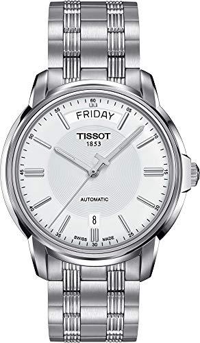 ティソ 腕時計 メンズ 【送料無料】Tissot T-Classic Automatic III Day Date White Dial Men's Watch T065.930.11.031.00ティソ 腕時計 メンズ