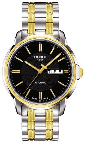 ティソ 腕時計 メンズ 【送料無料】Tissot Mens Automatics III Two-Tone Black Dial Watchティソ 腕時計 メンズ