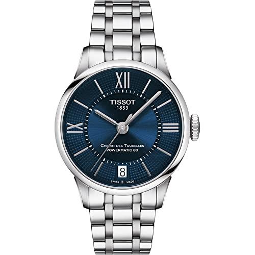 ティソ 腕時計 メンズ 【送料無料】Tissot Chemin des Tourelles Powermatic 80 Stainless Steel Blue Watch 32mm T099.207.11.048.00ティソ 腕時計 メンズ