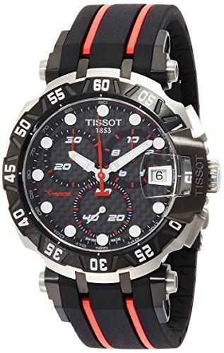 ティソ 腕時計 メンズ 【送料無料】Tissot Men's T-Race T0924172720100 Black Rubber Swiss Chronograph Watchティソ 腕時計 メンズ