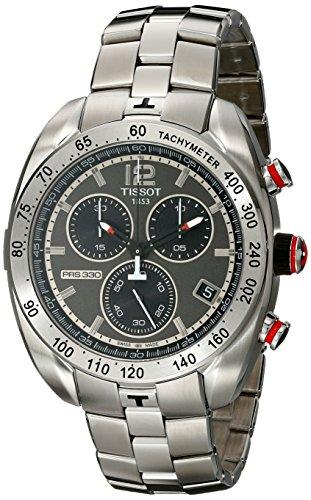 腕時計 ティソ メンズ 【送料無料】Tissot Men's 'PRS 330' Anthracite Dial Stainless Steel Chronograph Watch T076.417.11.067.00腕時計 ティソ メンズ