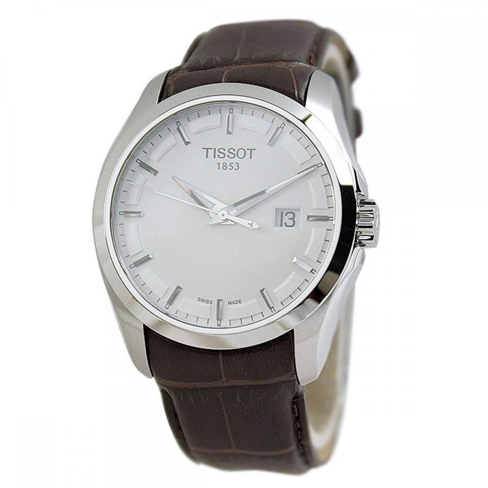 ティソ 腕時計 メンズ 【送料無料】Tissot Men's Stainless Steel Quartz Watch with Leather-Synthetic Strap, White, 20 (Model: T0354101603100)ティソ 腕時計 メンズ