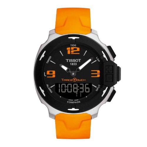 ティソ 腕時計 メンズ Tissot Men's T-Touch T081.420.17.057.02 Orange Silicone Swiss Quartz Watch with Black Dialティソ 腕時計 メンズ