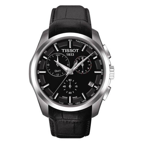 """ティソ 腕時計 メンズ 【送料無料】Tissot Men""""s Couturier T035.439.16.051.00 Black Leather Quartz Watchティソ 腕時計 メンズ"""