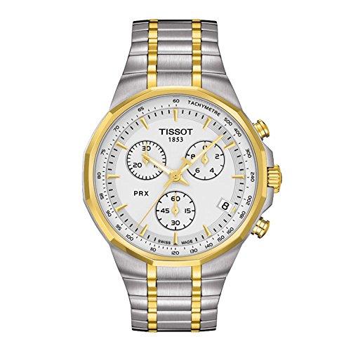 腕時計 ティソ メンズ 【送料無料】Tissot PRX Silver Chronograph Classic Men's watch #T077.417.22.031.00腕時計 ティソ メンズ