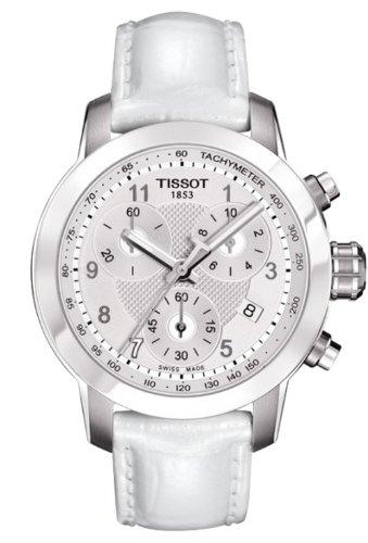 ティソ 腕時計 レディース Tissot T0552171603200 Women's Le Prc 200 Danica Racing Chrono White Genuine Patent Leather Watchティソ 腕時計 レディース
