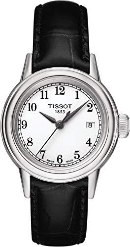 ティソ 腕時計 レディース 【送料無料】Tissot Carson White Dial Black Leather Ladies Watch T0852101601200ティソ 腕時計 レディース