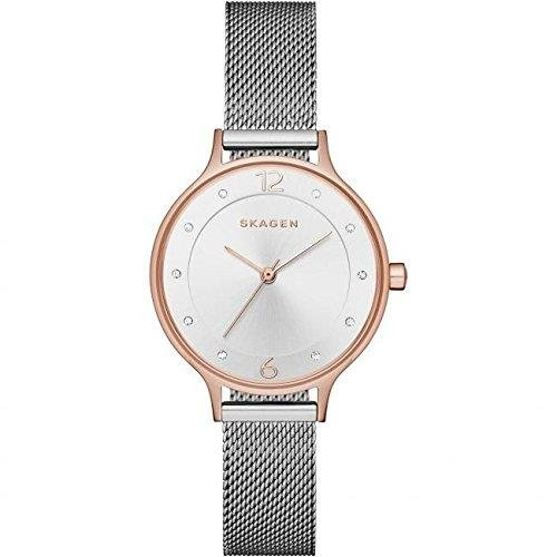 スカーゲン 腕時計 レディース Skagen Women's Steel Bracelet & Case Quartz Silver-Tone Dial Analog Watch SKW1069スカーゲン 腕時計 レディース