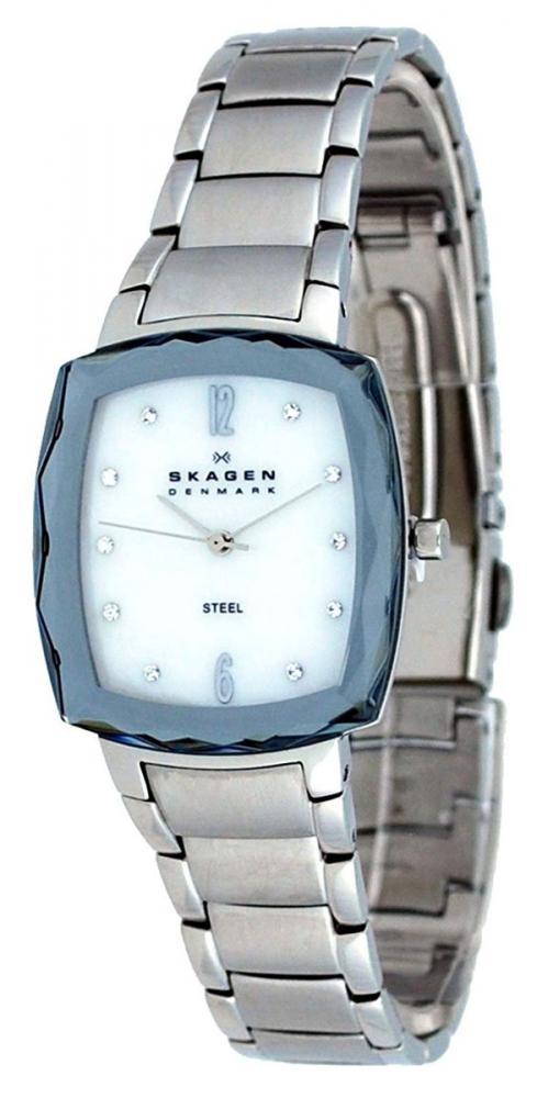 スカーゲン 腕時計 レディース Skagen Women's 657SSSX Steel Collection Silver/White Mother of Pearl Watchスカーゲン 腕時計 レディース