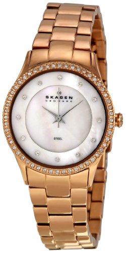 スカーゲン 腕時計 レディース Skagen Women's 347SRXR Denmark White Mother-of-Pearl Dial Watchスカーゲン 腕時計 レディース