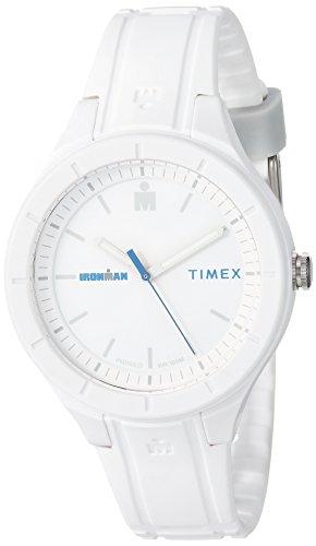 タイメックス 腕時計 メンズ Timex TW5M17400 Ironman Essential Urban Analog 38mm White/Blue Silicone Strap Watchタイメックス 腕時計 メンズ