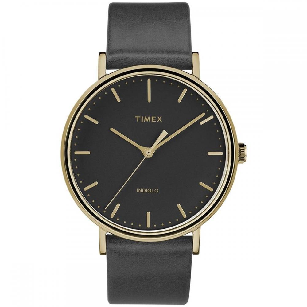 タイメックス 腕時計 メンズ Timex Fairfield Black Dial Leather Strap Men's Watch TW2R26000タイメックス 腕時計 メンズ