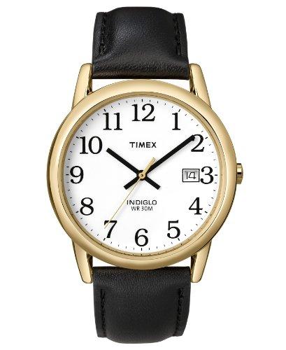 腕時計 タイメックス メンズ 【送料無料】Timex Watch, Men's Black Leather Strap T2H291UM腕時計 タイメックス メンズ