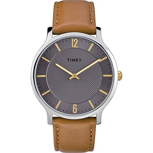 腕時計 タイメックス メンズ 【送料無料】Timex Mens Analogue Classic Quartz Watch with Leather Strap TW2R49700腕時計 タイメックス メンズ