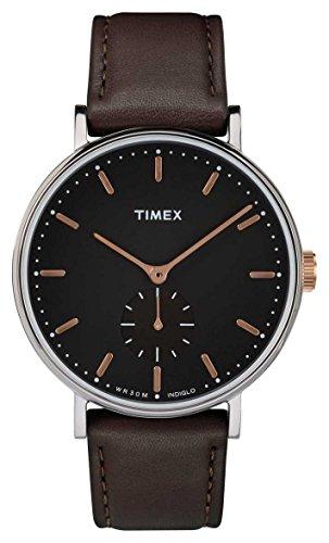 タイメックス 腕時計 メンズ Timex Fairfield Black Dial Leather Strap Men's Watch TW2R38100タイメックス 腕時計 メンズ