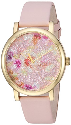 タイメックス 腕時計 レディース 【送料無料】Timex Women's TW2R66300 Crystal Bloom Pink/Gold Floral Leather Strap Watchタイメックス 腕時計 レディース