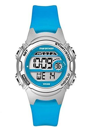 腕時計 タイメックス レディース 【送料無料】Timex Children's Quartz Watch with LCD Dial Digital Display and Blue Resin Strap TW5K96900腕時計 タイメックス レディース