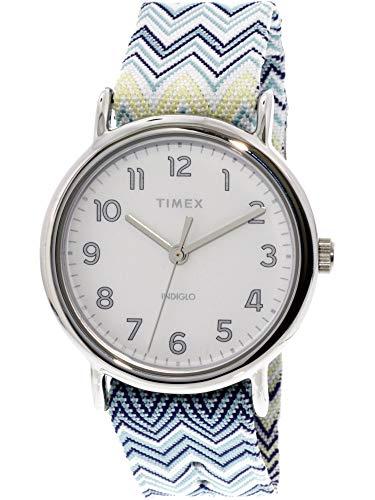 タイメックス 腕時計 レディース Timex Women's Weekender 38 TW2R59200 Silver Nylon Analog Quartz Fashion Watchタイメックス 腕時計 レディース