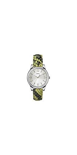 タイメックス 腕時計 レディース 【送料無料】Timex Green Black Python Patterned Leather Ladies Watch T2P130タイメックス 腕時計 レディース